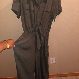 Army Green Oversized Jumpsuit